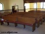 Bangku Gereja Model Lengkung Kayu Jati