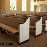 bangku gereja super mewah cat duco putih