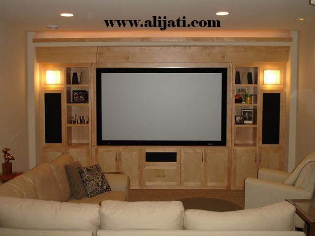 bufet tv desain terbaru jati perhutani
