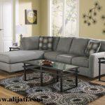 sofa sudut jok bludru desain minimalis