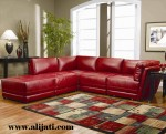Sofa Sudut Jok Oscar Warna Merah Terbaru