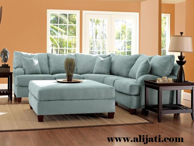 sofa sudut mewah terbaru kayu jati