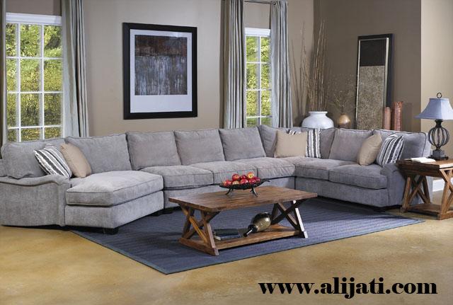 sofa sudut minimalis kayu jati jepara