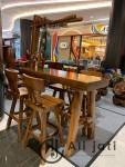 Kursi Cafe Bar Terbaru Kayu Jati Perhutani
