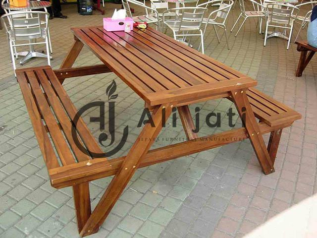kursi cafe lipat unik minimalis kayu jati asli
