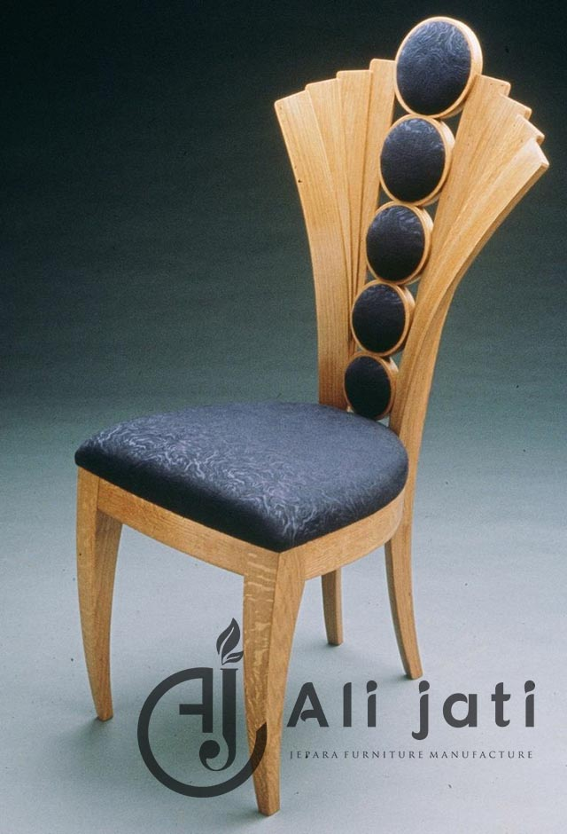 kursi makan unik minimalis kayu jati